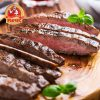 Juicy, aromatic and crispy beef steak