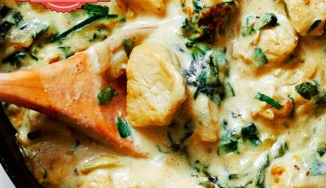 Chicken in creamy sauce